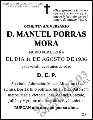 Manuel Porras Mora